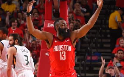 Tutto facile per Houston: -32 per Utah alla prima