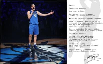 Nowitzki, l'ultimo grazie con una lettera aperta