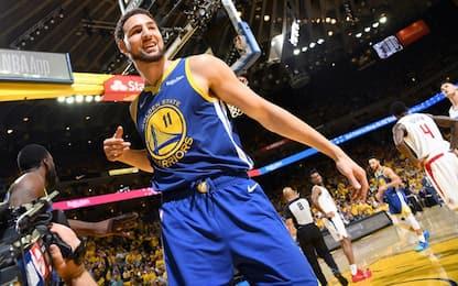 """Thompson: """"Pensavo ai Rockets, ora vinciamo di 30"""""""