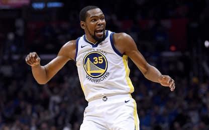 Durant mostruoso, L.A. eliminata dai suoi 50 punti