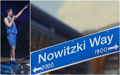 Dallas, una strada in onore di Dirk Nowitzki