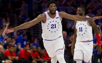 Embiid dice 33, Philadelphia vince: 2-1 su Toronto
