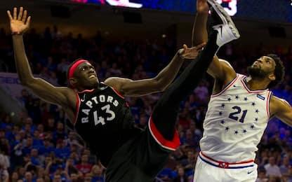 Sixers-Raptors, colpi proibiti di Simmons e Siakam