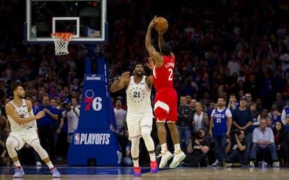 Leonard trascina Toronto, Sixers ko in casa: 2-2