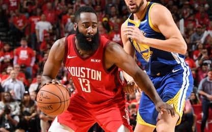 Che duello Harden-Durant: Houston la spunta, è 2-2
