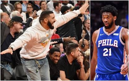 Embiid malato: Brown lo difende, Drake lo umilia