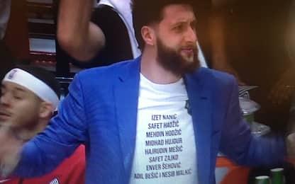 Nurkic, la maglietta è una provocazione per Jokic