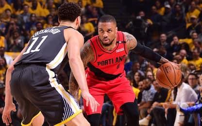 Portland-Golden State alle 3.00 su Sky Sport NBA