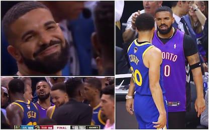 La gara-1 di Drake: che liti con Curry e Green