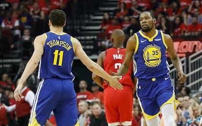 Golden State, le condizioni di Durant e Thompson