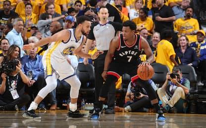 Golden State-Toronto, gara-4 alle 3 su Sky Sport