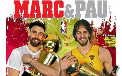"Fratelli Gasol campioni: Marca diventa ""Marc&Pau"""