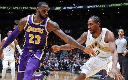 Kawhi: Toronto spera, sfida Clippers-Lakers a L.A.