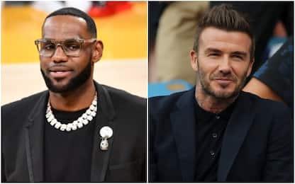 Beckham e LeBron James all'assalto di Hollywood