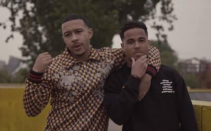 Depay, nel nuovo video rap spunta Justin Kluivert