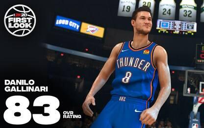 Il rating di Danilo Gallinari in NBA 2K20