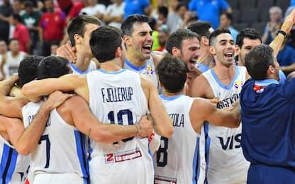 Argentina, festa post-impresa con la Serbia. VIDEO