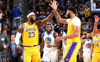 Prima gara al Chase Center: Warriors ko coi Lakers