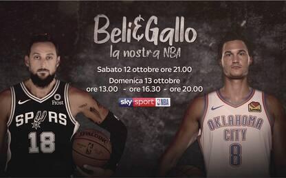 """""""Beli & Gallo - La nostra NBA"""": lo speciale su Sky"""
