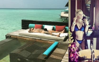 """La vacanza """"sobria"""" di Icardi e Wanda"""