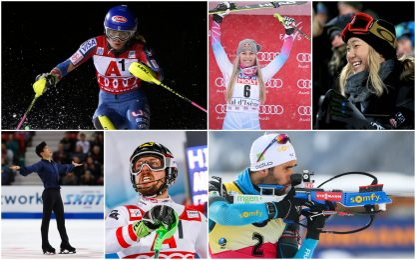 Olimpiadi invernali Corea 2018: chi sono le star