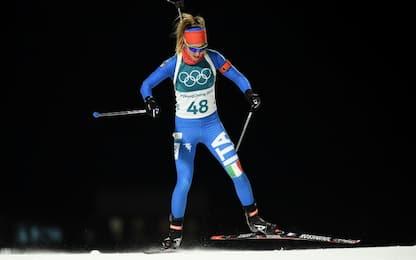 Biathlon, delusione Vittozzi-Wierer
