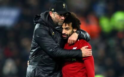 Klopp si gode Salah, numeri da marziano in Reds