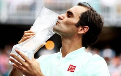 Federer inarrestabile: batte Isner e vince a Miami