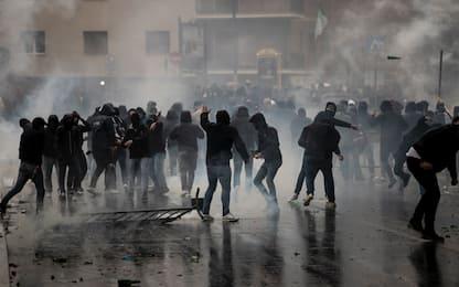 Tensione all'Olimpico, tutte le FOTO degli scontri