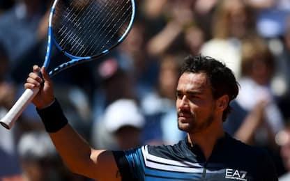 Roland Garros: a Fognini il derby con Seppi