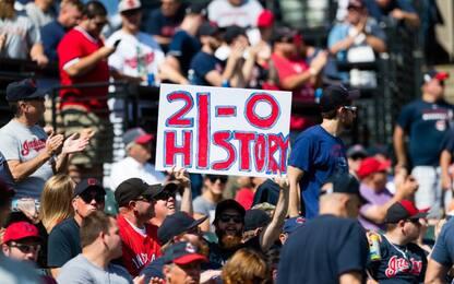 Gli Indians fanno 21 e sono nella storia dell'Mlb