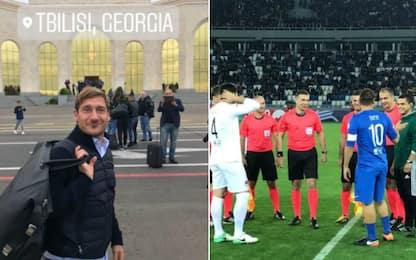 Totti, show a Tiblisi: gol e assist per Kaladze