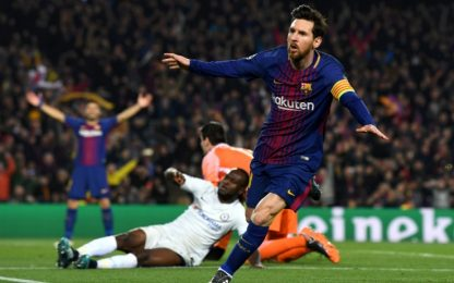 Messi fa cento ed elimina Conte: Barça ai quarti