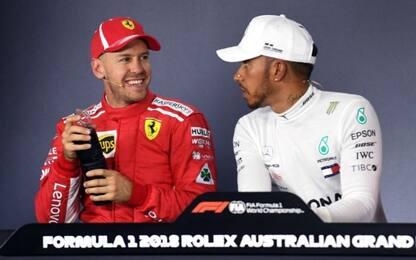 """Lewis a Seb: """"Cancella quel sorriso dal tuo volto"""""""