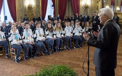 """Giochi, Mattarella: """"Atleti prestigio del Paese"""""""