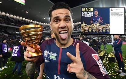 """Neymar: """"Alves il più vincente"""". Ma non è vero..."""