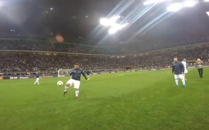 TottiCam, il calcio visto con gli occhi di un 10