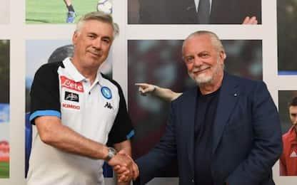 """De Laurentiis: """"Ancelotti sa come gestire la rosa"""""""