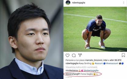 """Zhang, messaggio social a Gagliardini: """"Forza"""""""