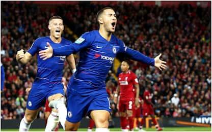 Super Hazard, Sarri gode: Liverpool eliminato 2-1