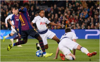 Champions, è di Dembélé il gol della settimana