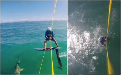 Scontro kitesurf-squalo, spavento per Soto. VIDEO