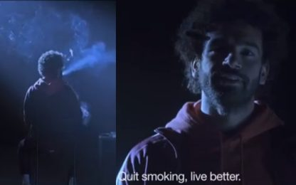 Salah, la geniale campagna antifumo. VIDEO