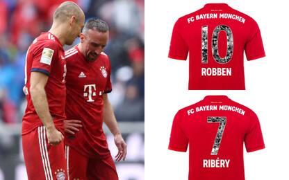 Bayern, maglie celebrative per Robben e Ribery