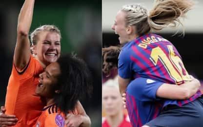 Champions donne, su Sky la finale Lione-Barcellona