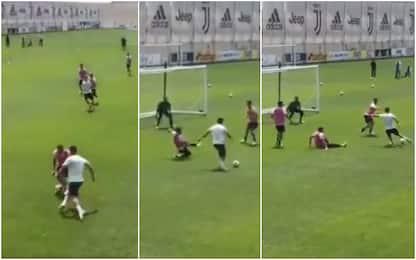 Dribbling, finta e tiro: super gol di CR7. VIDEO