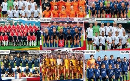 Mondiali femminili, la guida delle 24 squadre