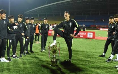 Corea del Sud U18, esultanza volgare: trofeo tolto