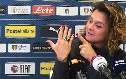 Italia femminile. Girelli, tricolore nelle unghie