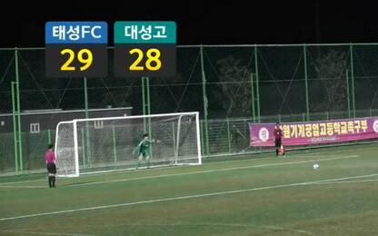 Sud Corea, sfida infinita: finisce dopo 62 rigori!